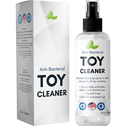 Silicon Toy Cleaner Water Based Anti-Bacterial Anti-Microbial Disinfectant Spray for Toys and Games Alcohol Free Paraben Free Cruelty Free Hypoallergenic Hygienic Cleaning Product for Sensitive Skin