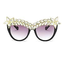 Crystal Sunglasses Cateye Shaped Jeweled
