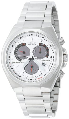 Calendar Stainless Steel White Dial (Citizen Men's BL5410-59A Eco-Drive Perpetual Calendar Stainless Steel White Dial Watch)