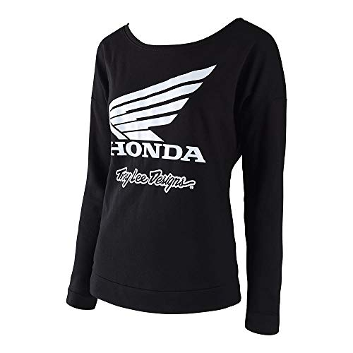 Troy Lee Designs Official Womens Honda Wing Long Sleeve Sweater (X-Large, Black)