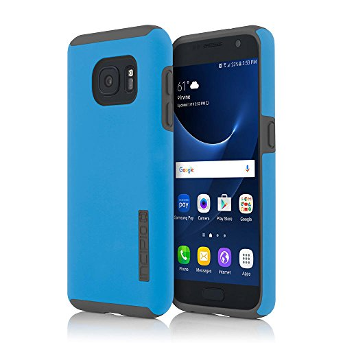 Samsung Galaxy S7 case, Incipio DualPro, Hard Shell Case with Impact-Absorbing Core Shock-Absorbing Impact-Resistant Dual-Layer Cover - Blue/Gray