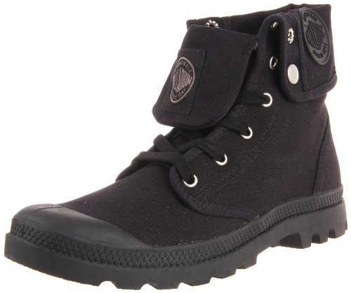 Palladium Boots Mens Baggy Canvas Boots , Black/Black, 13