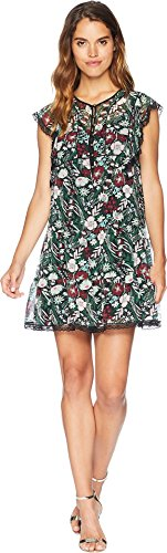 Juicy Couture Women's Secret Garden Floral Dress Pitch Black Secret Garden Small