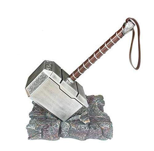 (B&T Norse Mythology Aluminum Thor Mjolnir Solid Hammer Aluminum Alloy Model, Gift Box Packaging)