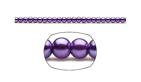fuchsia-Pearl glass round G177 4 tones 20 beads 10 mm two-tone glass