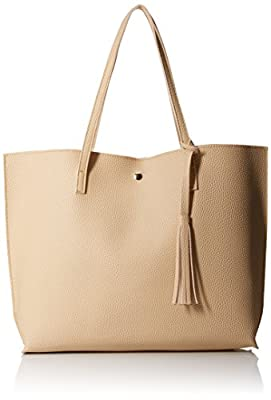 Oct17 Women Large Tote Bag - Tassels Faux Leather Shoulder Handbags, Fashion Ladies Purses Satchel Messenger Bags
