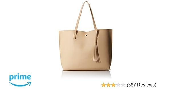 Amazon.com  OCT17 Women Tote Bag - Tassels Faux Leather Shoulder Handbags f5840080d2406