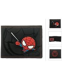 Kawaii Spiderman Black Bi-fold Wallet