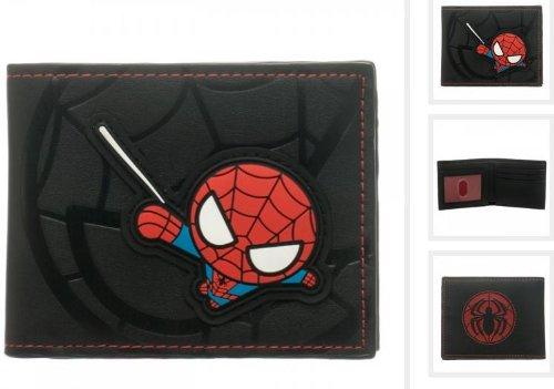 Kawaii Spiderman Black Bi-fold Wallet Bioworld