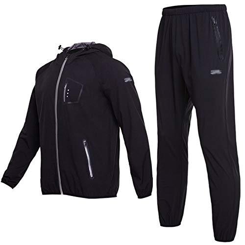 Jogging Costumes Transpiration Perdre Poids Jeux Course Pour Sport Vêtements Fitness Hommes De Minceur Zjbsw Du 1w6STB