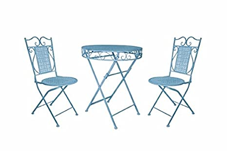 Ferro battuto - Set tavolo e 2 sedie Galileo 2415397