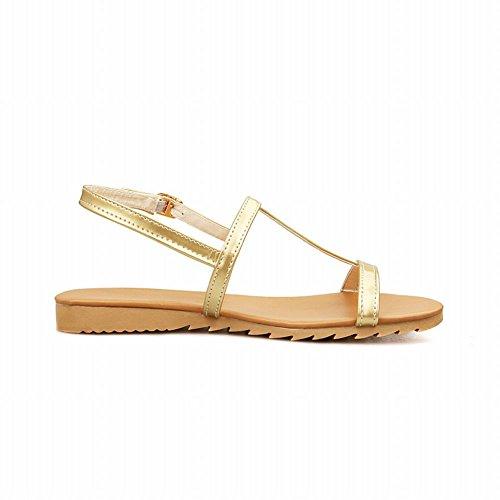 Sangle Or Ouvert À Plat Nouveau Chaussures Cheville Casual Sandales Féminin Carol Bout Style xqY8wO6P