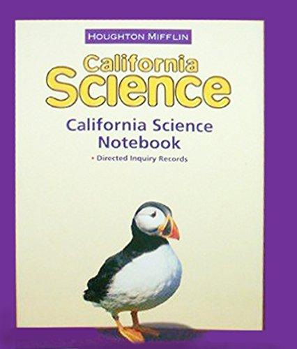 Houghton Mifflin Science California: NoteBook Consumable Level 3