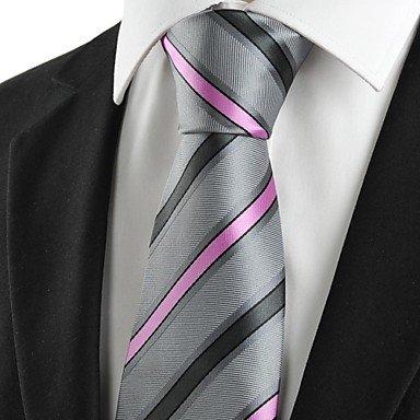 De CjW diseño a rayas rosa gris y brida de cables corbata Mens ...