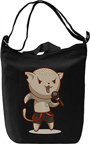 Singing cat Borsa Giornaliera Canvas Canvas Day Bag| 100% Premium Cotton Canvas| DTG Printing|