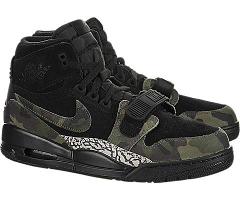 Nike AIR Jordan Legacy 312 Mens Fashion-Sneakers AV3922 (8.5, Black/Camo Green/Black)