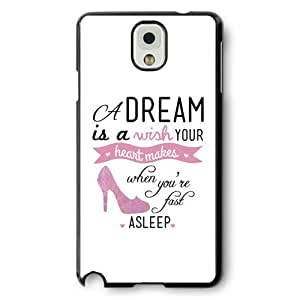 Personalized Cinderella Cartoon Hard Plastic Phone Case Cover for Samsung Galaxy Note 3 - Black