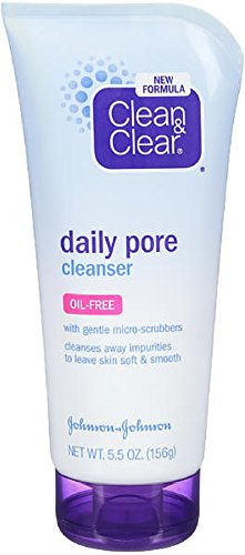 Clean & Clear Daily Pore Cleanser, Oil-Free, 5.5 oz (Pack of 2)