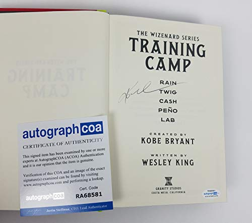 Kobe Bryant Autograph Signed Book Wizenard Series Training Camp ACOA