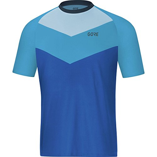 Gore Wear Men's Breathable Mountain Bike Short Sleeve Jersey, C5 Trail Short Sleeve Jersey, Size: XXL, Color Dynamic Cyan, 100213 Trail Short Sleeve Jersey