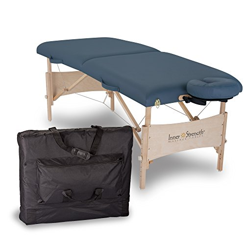 INNER STRENGTH Portable Massage Table Package ELEMENT - Incl. Deluxe Adjustable Face Cradle, Face Pillow & Carrying Case, Agate ()