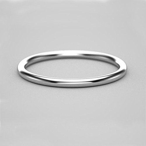 s white mens ring polished simple wedding gold bands band p men asp