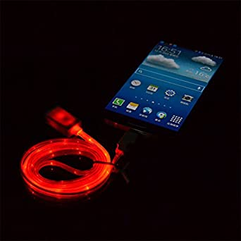 Amazon.com: VISIBLE brilla en la oscuridad luz led micro USB ...