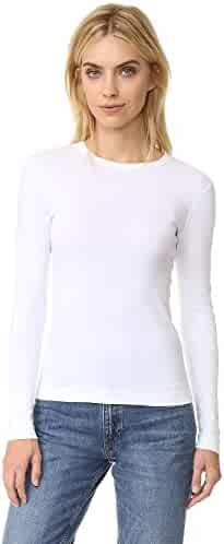 Three Dots Women's Long-Sleeve Crew-Neck T-Shirt