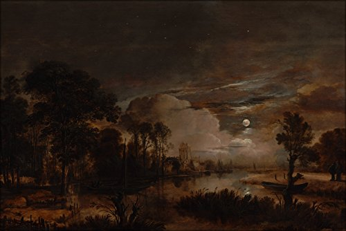 24x36-poster-aert-van-der-neer-moonlit-landscape-with-a-view-of-the-new-amstel-river-and-castle-kost