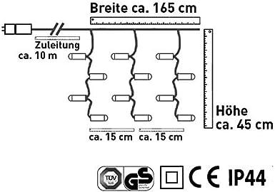AMARE 80 LED Lichterkette 2 in 1 f/ür den Innen- und Au/ßenbereich L/änge der Kette 6,3 m zzgl. 10 m Zuleitung 8 Leuchtmodi//Timer nach Belieben warmwei/ß, kaltwei/ß oder wechselnd