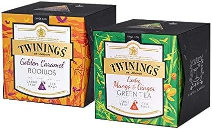 Twinings Platinum London Beach Earl Grey y Golden Caramel Rooibos 2 x 15 bolsitas de té: Amazon.es: Alimentación y bebidas