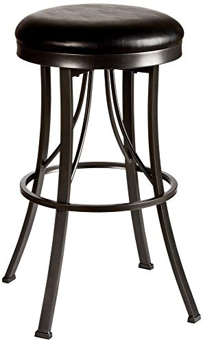 Hillsdale Ontario 26 Black Vinyl Swivel Counter Stool