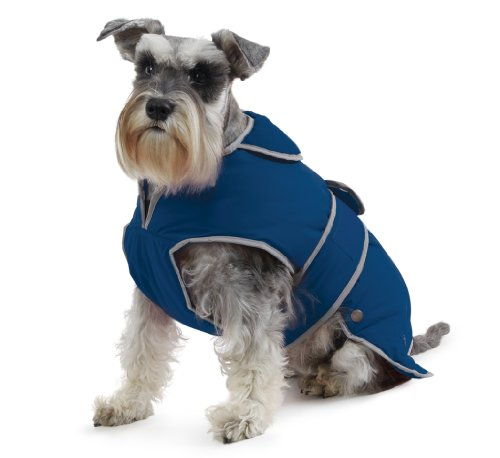 Ancol Muddy Paws Stormguard & Fleece Lining Coat Blue - Inseam Height By Shorts
