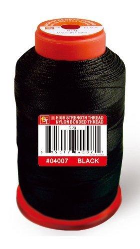 Beauty Town High Strength Nylon Bonded Thread 50g [Black]
