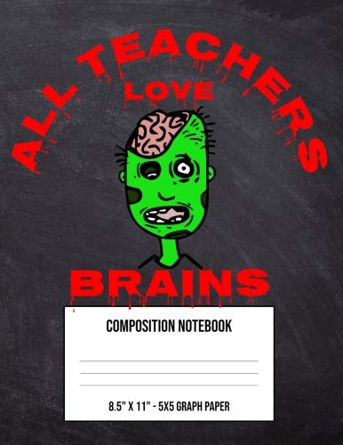 All Teachers Love Brains: Large 5 x 5