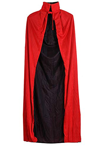 Indistyle Cosplay Costumes Holloween Reversible Robe Cape Cloak Black Red