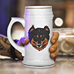 Custom Beer Mug English Shepherd Head Ceramic Drinking Glasses Beer Gifts White 18 OZ Design Only 11