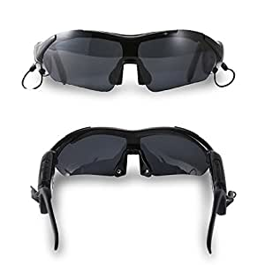 Engadget Zone Smart Touch slide Bluetooth Sunglasses Headset for Samsung Galaxy Note 2 3 S3 S4 S5 iPhone 6 iPhone 6 Plus iPhone 5 5S 5C 4S iPod HTC ONE M7 Sony L36H Sliver (Black)