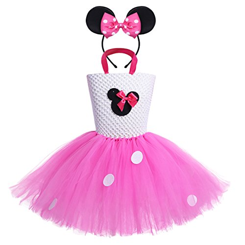 Freebily Infant Baby Girls' Mouse Fancy Dress Dance Tutu Costume with Headband (2-3, (Fancy Baby Panties)