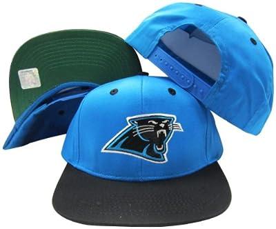 Carolina Panthers Blue/Black Two Tone Plastic Snapback Adjustable Plastic Snap Back Hat / Cap