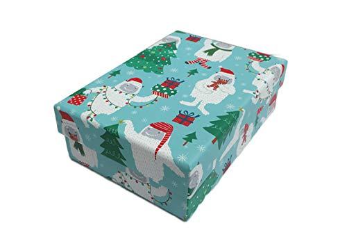 - Merry Christmas Holiday Abominable Snowman Yeti Decorative Christmas Holiday Gift Box (Multi Yeti)