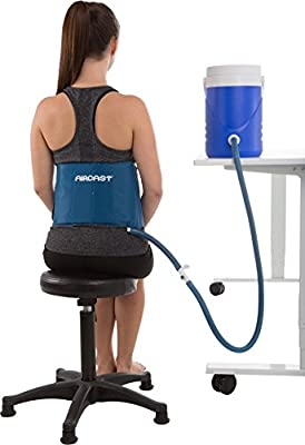 DonJoy Aircast Cryo/Cuff Cold Therapy: Back/Hip/Rib Cryo/Cuff with Non-Motorized (Gravity-Fed) Cooler, One Size Fits Most