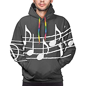 ewretery Music Notes On Blackboard Unisex Fashion Printed Pullover Hoodies Hooded Sweatshirts for Sport and Party