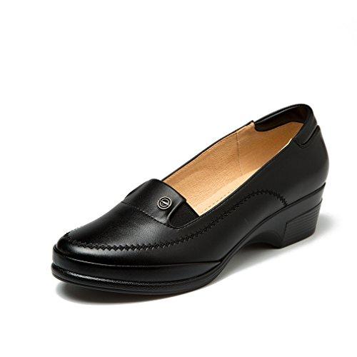 b0859e31e1f4 85%OFF Cestfini chaussures de travail féminin, chaussures mini talon noir  pour le travail