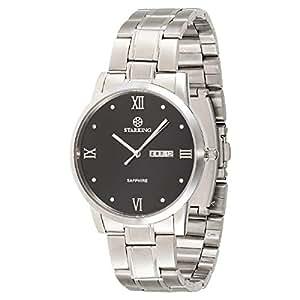 Starking Men's Black Dial Stainless Steel Band Watch - BM0859SS12