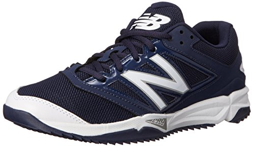 (New Balance Men's T4040V3 Turf Baseball Shoe, Navy/White, 12.5 D US)