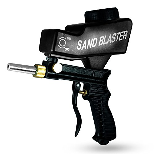 Sandblaster Portable Speed Blaster, Sand Blasting Nozzle Gun, Gravity Feed Sandblast Gun, Speed Blaster with Extra Tip (Black) by LE LEMATEC