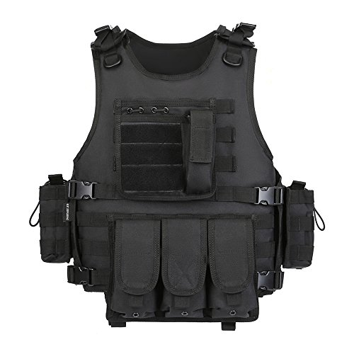 GZ XINXING Black Tactical Airsoft Paintball Combat Military Swat Assault Army Sh…