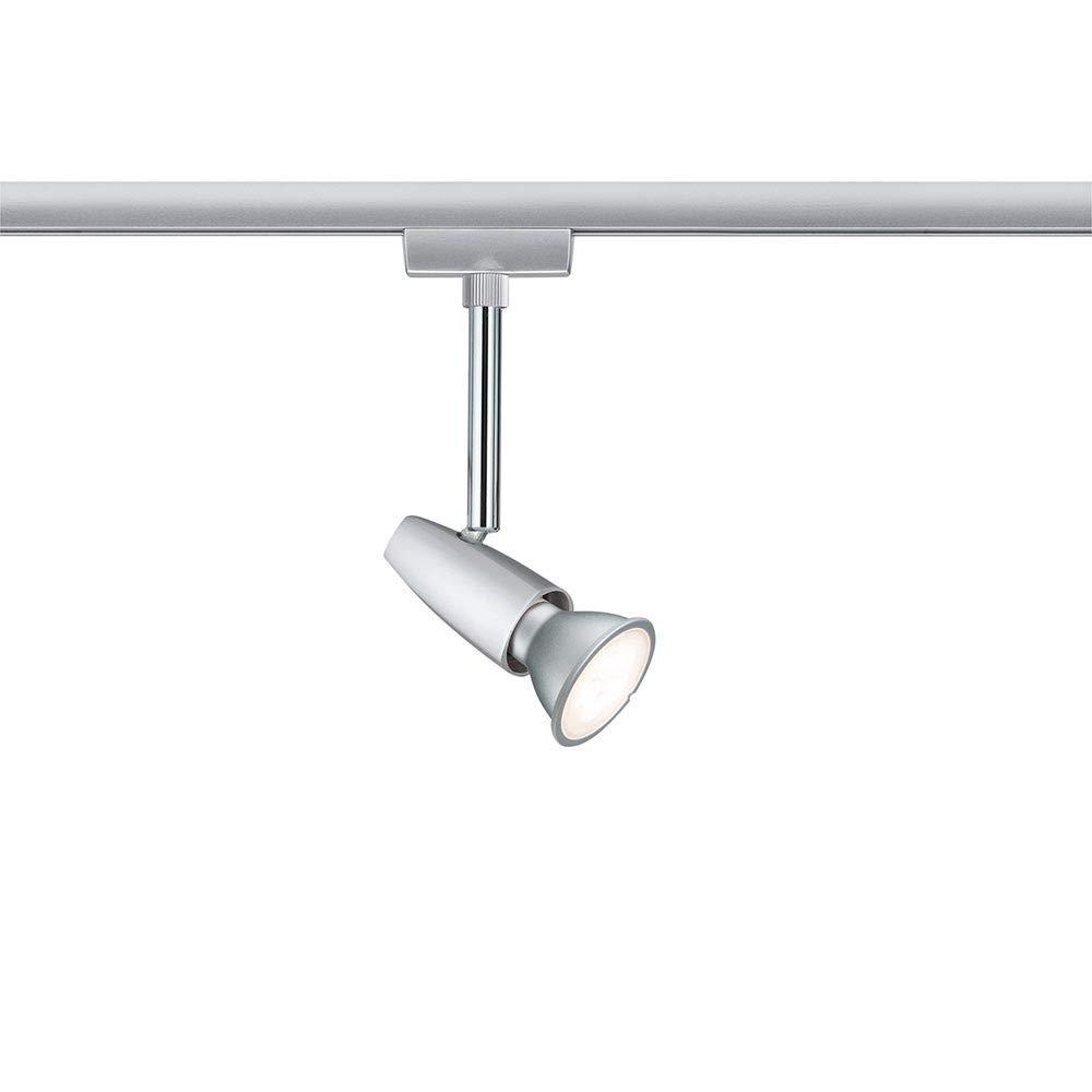 Paulmann 95154 URail Schienenleuchte System Light/&Easy Spot BarelliLED 1x6,5W GU10 230V Chrom Metall Stromschienensystem Silber 20 x 20 x 30 cm