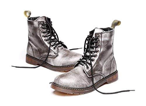 Los Cuero Cómodo Fuxitoggo De Tamaño Hombres color Alta 38 Suave Zapatos Botas Martin Encaje Gama qUq08vxT